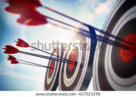 Goals to achievement. 3D Rendering - stock photo