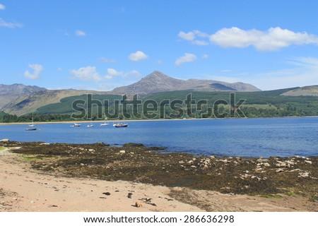 Goat Fell - Isle of Arran - Scotland - stock photo