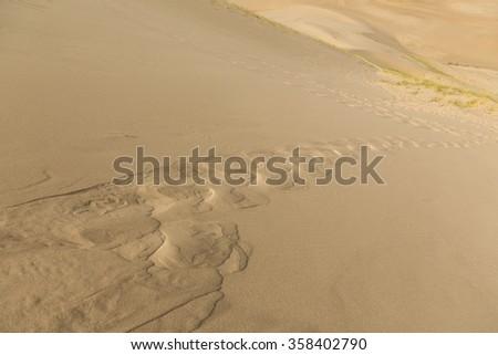 Gobi Desert Singing Sand Dunes - stock photo