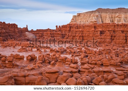 Goblin valley park in Utah - stock photo