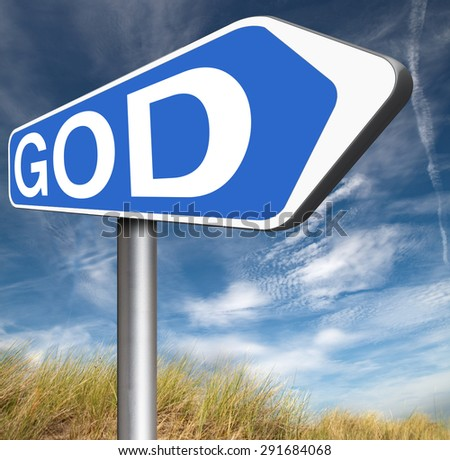 God and salvation search road to heaven religion god belief and praise the lord  - stock photo