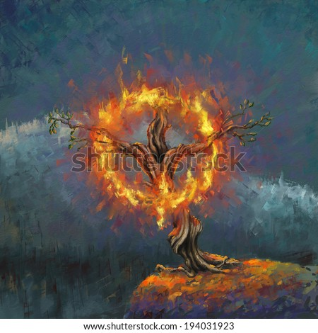 Burning Bush Stock Images, Royalty-Free Images & Vectors ...