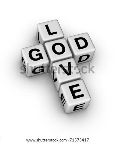 God is Love symbol - stock photo