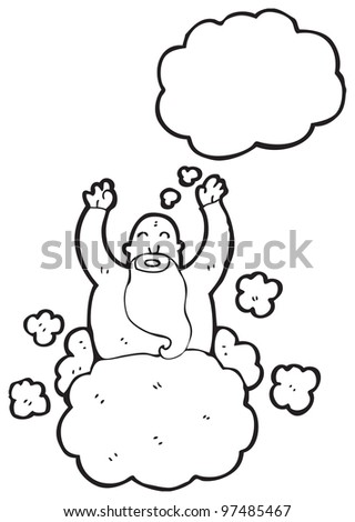 god on cloud cartoon
