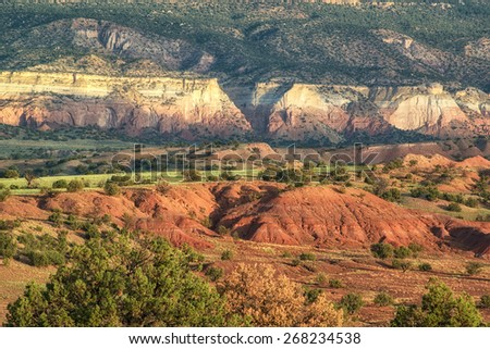 God's Palette Abiquiu Ghost Ranch New Mexico - stock photo