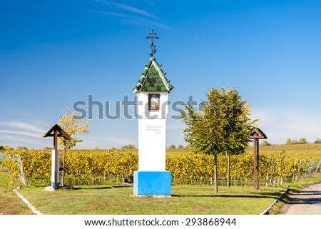 God's torture with vineyard near Velke Bilovice, Czech Republic - stock photo