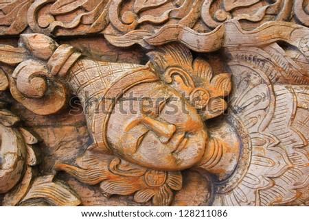 God Thai style Teak wood carving Door in Chiangmai Thailand & God Thai Style Teak Wood Carving Stock Photo (Royalty Free ...
