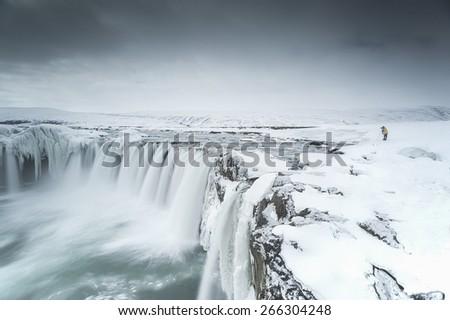 Godafoss Iceland - stock photo