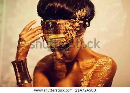 Goddess Isis - stock photo