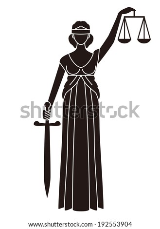 Goddess of justice symbol of justice  - stock photo