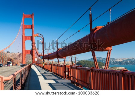 Goden Gate Bridge San Francisco - stock photo