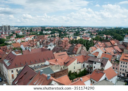 Goerlitz old town, from above. Looking Poland.