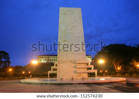 Goethals Memorial in Panama. George Washington Goethals (29 June 1858 - 21 January 1928) was a USA Army officer and civil engineer, best known for his supervision of construction of the Panama Canal. - stock photo