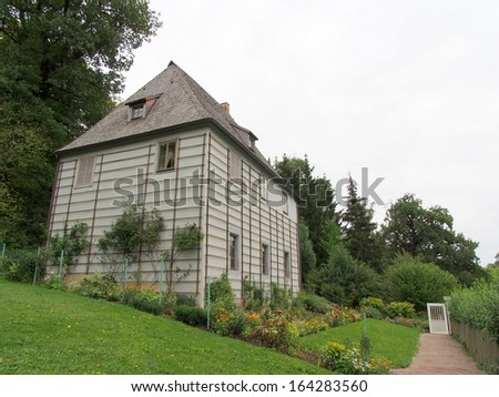 Goethe's Garden House at Park an der Ilm in Weimar, Germany - stock photo