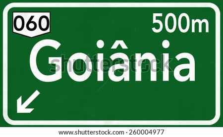 Goiania Brazil Highway Road Sign