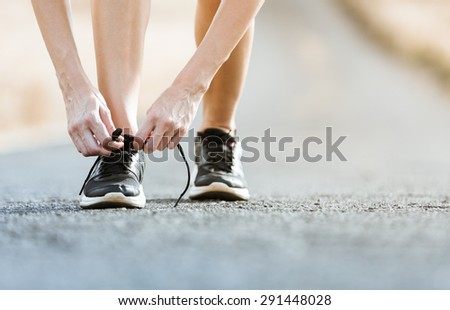 Going for a run. - stock photo