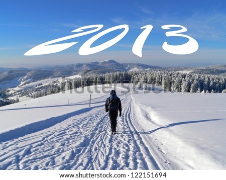 going forwad to 2013 - stock photo