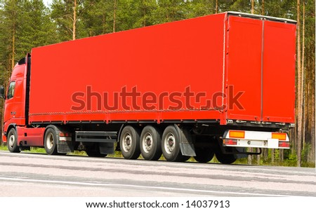 "going to deliver it on time -  of ""Trucks"" series in my portfolio - stock photo"