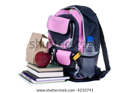 Going to school is your future. Education, learning, teaching. A backpack is ready for the new school year