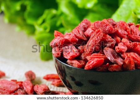 Goji Berries - Lycium barbarum - stock photo