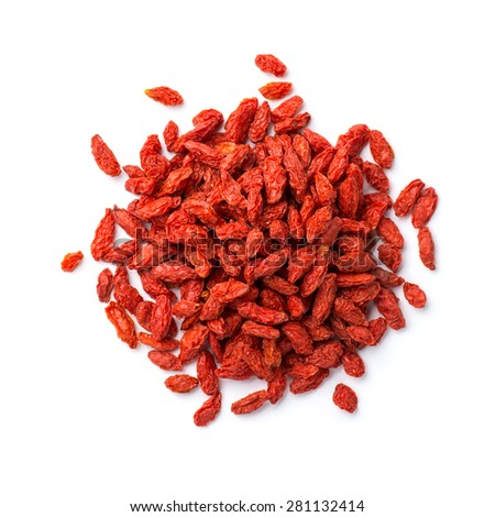 Goji berry isolated on white background  - stock photo