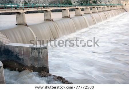 goksu dam (Silifke Turkey) - stock photo