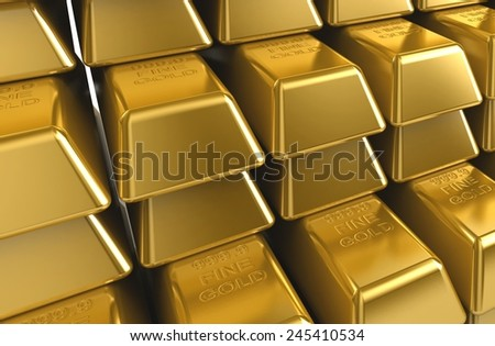 gold - stock photo