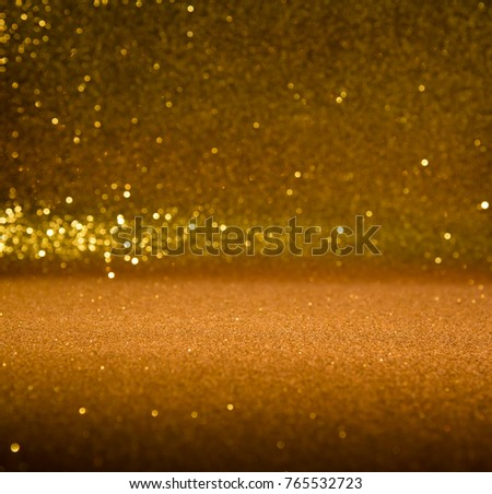 gold abstract background with bokeh defocused lights christmas