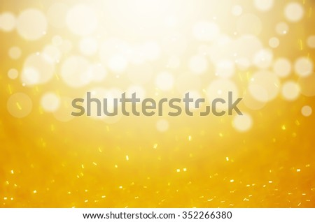 Gold Abstract colorful bokeh light background.