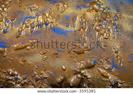 gold  abstract patterns - stock photo