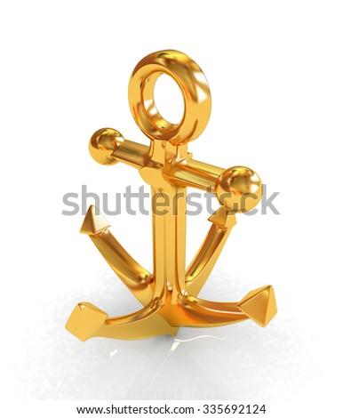 3d gold anchor photo - photo #26
