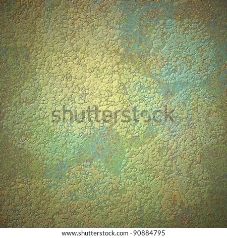 gold and blue contemporary abstract background with embossed grunge texture on layout design with copy space for Easter brochure or announcement, had soft yellow lighting and border shading - stock photo
