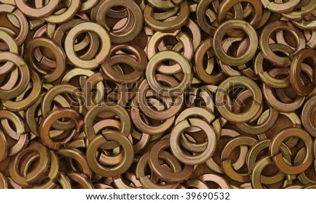 Gold anodized lock washers