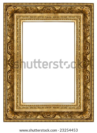gold antique frame isolated
