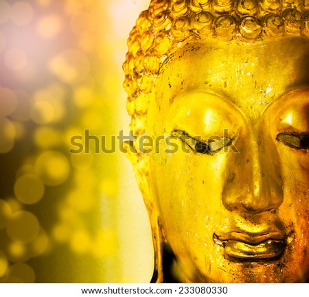 Gold art buddha. - stock photo