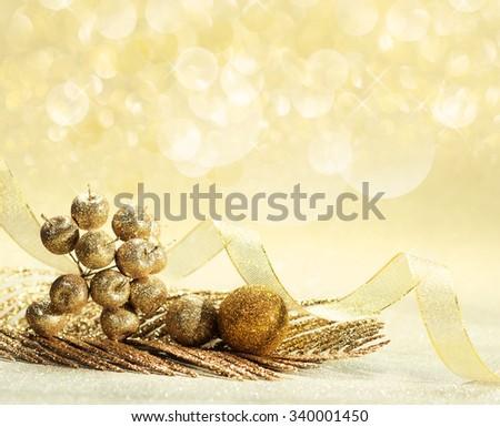 Gold background decorating Christmas, Chinese New Year. - stock photo
