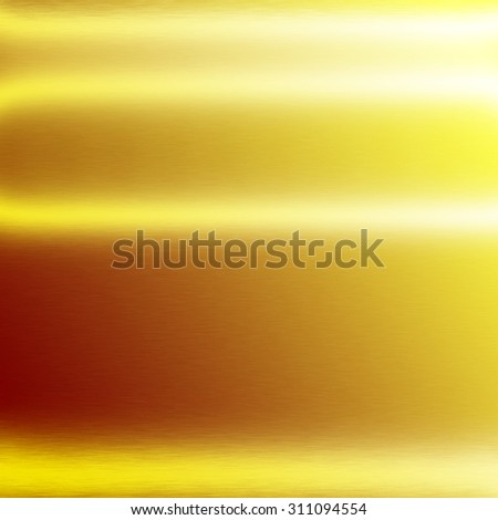 gold background metal metal texture background horizontal lines of light - stock photo