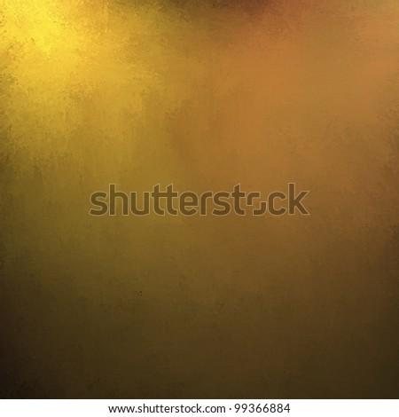 gold background or gold paper, has corner lighting on yellow background with black border and abstract background texture of shiny hammered gold or oil paint or vintage wallpaper - stock photo