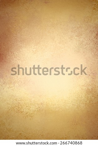 gold background poster, texture is old vintage distressed solid gold color with shiny foil center - stock photo