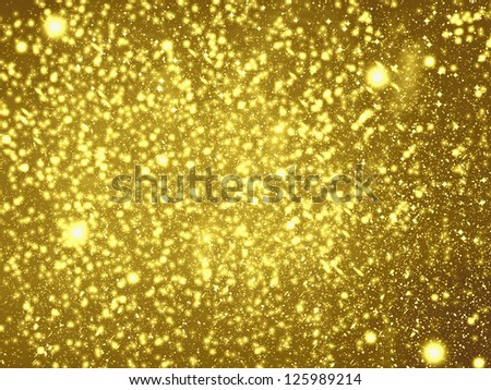 Gold background, raster illustration - stock photo