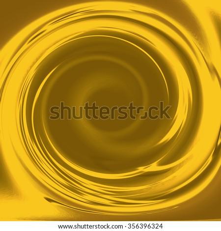 gold background swirl border to graphic design - stock photo