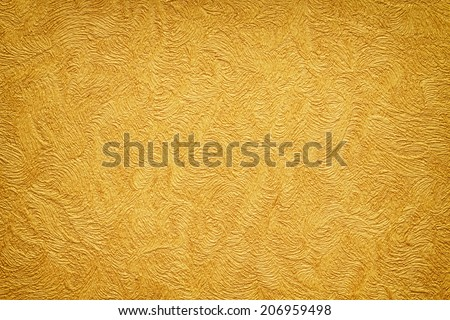 Gold background texture. Wallpaper on the wall. Element of design.  - stock photo