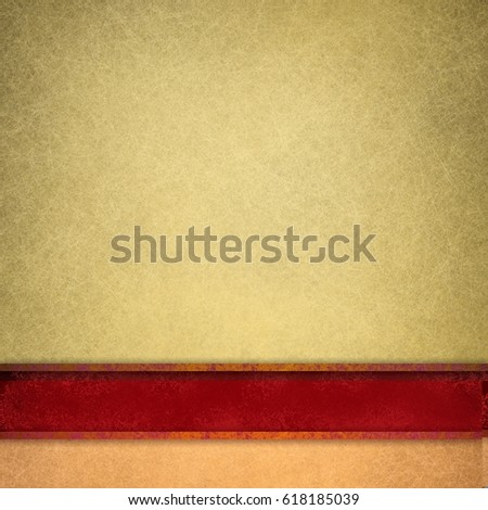 Gold Background Dark Red Ribbon Fancy Stock Illustration 618185039 ...