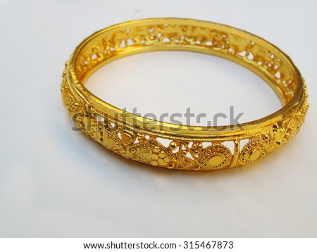 Gold Bangles Stock Royalty Free & Vectors