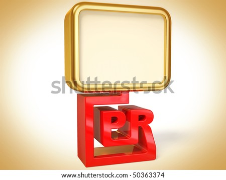 gold banner on white background isolated - stock photo
