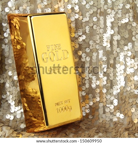 Gold bar - stock photo