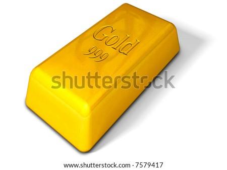 Gold Bar - stock photo