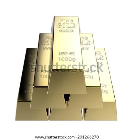 Gold bars - stock photo