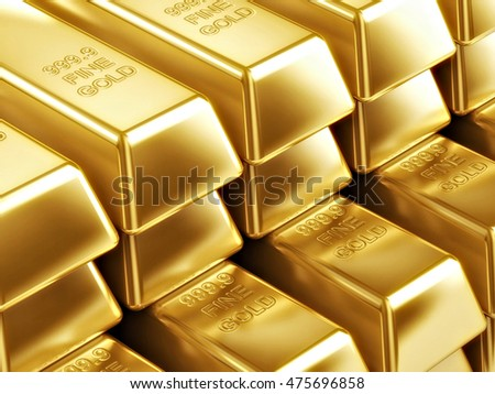 Gold Bars 3D illustration