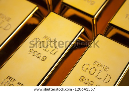 Gold bars! Financial and money concept